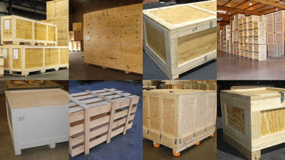 WOOD CRATES AND CONTAINERS