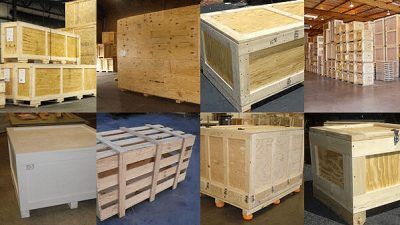Wooden Shipping Crates and Containers
